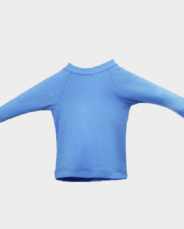 T-Shirt bébé anti-UV-Bleu régate