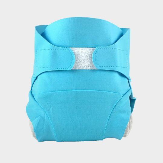 couche bébé lavable bleue
