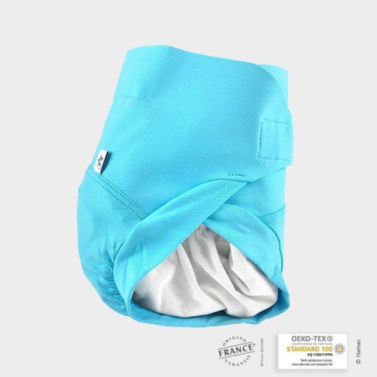couche bébé lavable bleue poseidon
