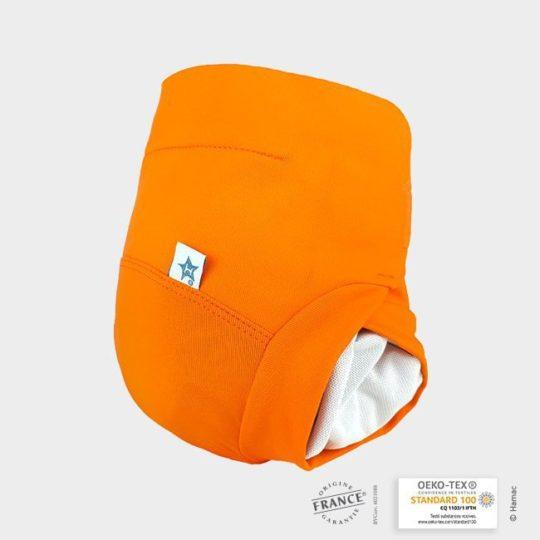 couche lavable abricot