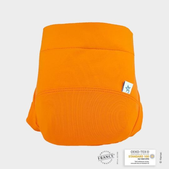 couche lavable orange