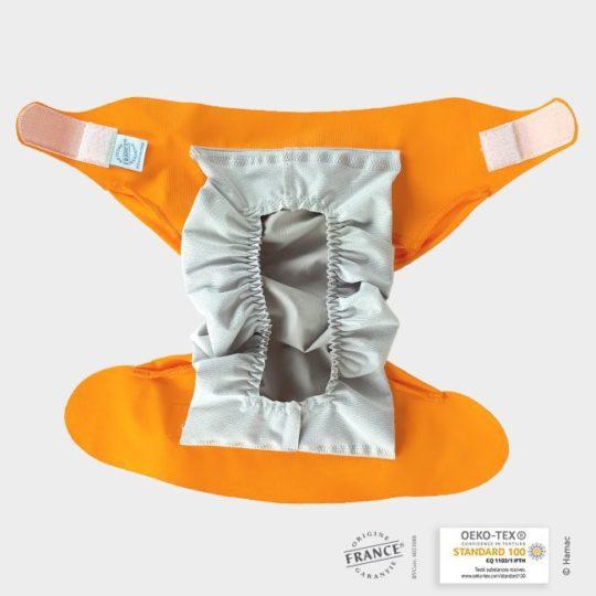 couche bebe orange abricot