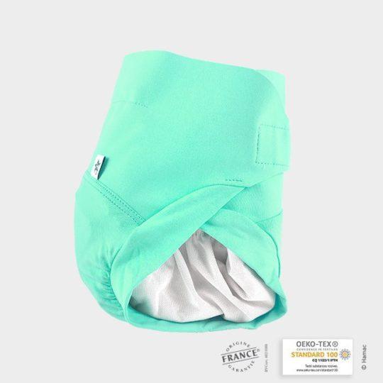 couche lavable bebe vert
